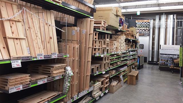 個店における木の使い方4